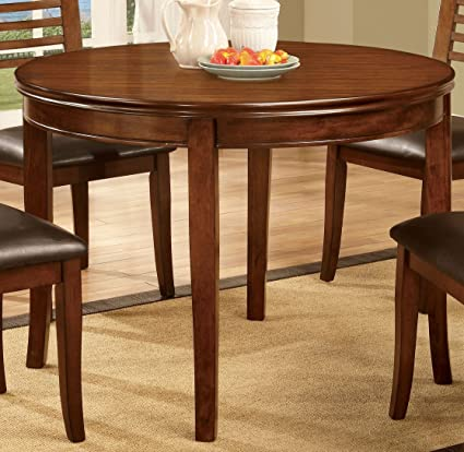 Amazon Com Furniture Of America Dekina Transitional Round Dining