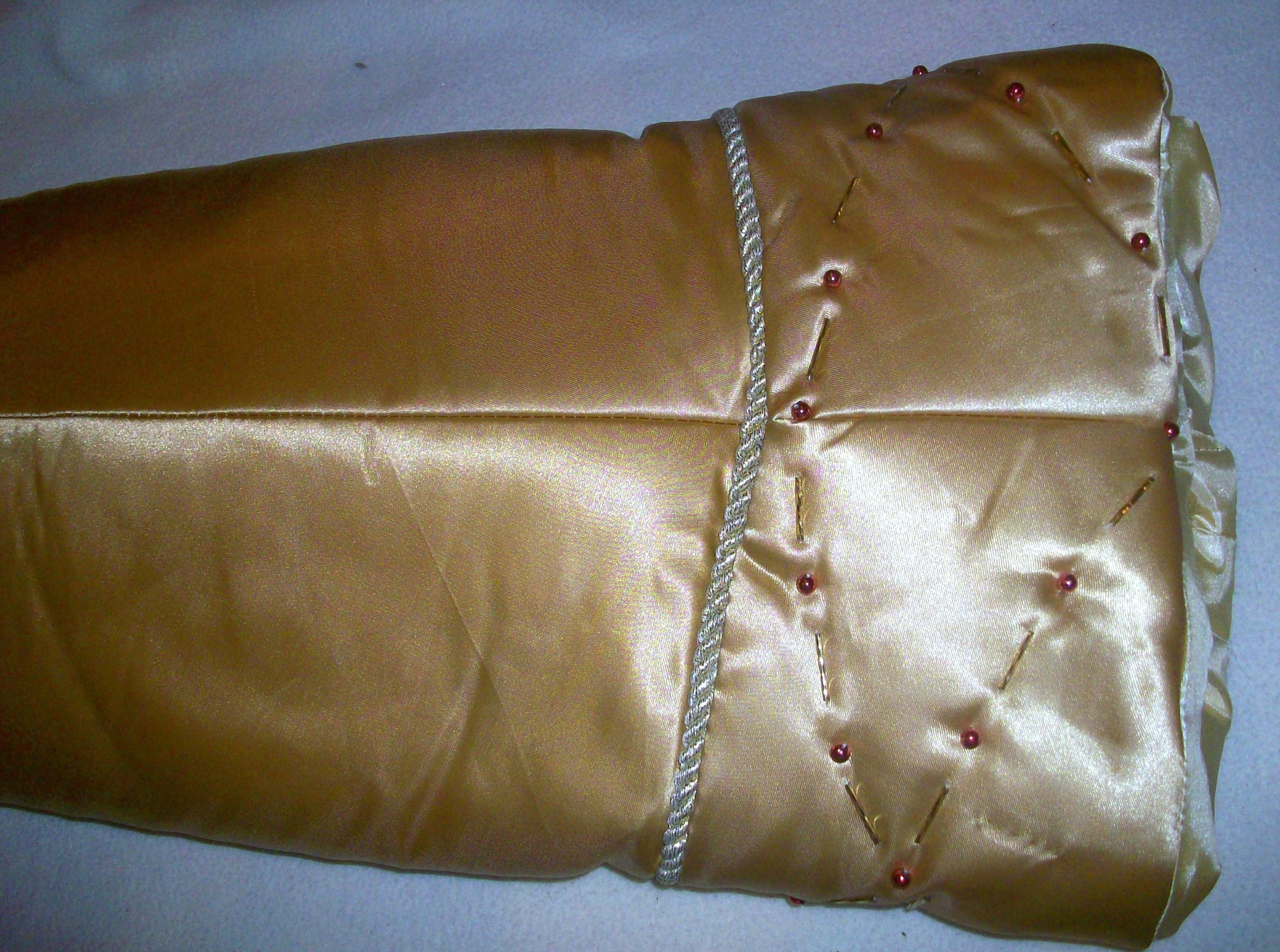 52'' Gold Decorative, Sequence Shimmery Christmas Tree Skirt