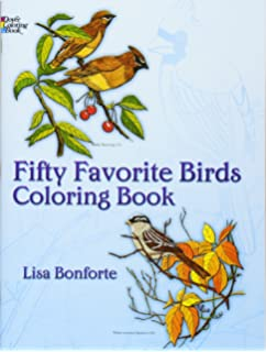 fifty favorite birds coloring book dover nature coloring book - Bird Coloring Book
