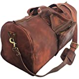 24 Inch Rustic Goat Real Leather Duffel bag Vintage Leather Bag Travel Bag Overnight Weekend Holdall Bag Brown Large Bag Luggage Bag Carry On By KK's leather