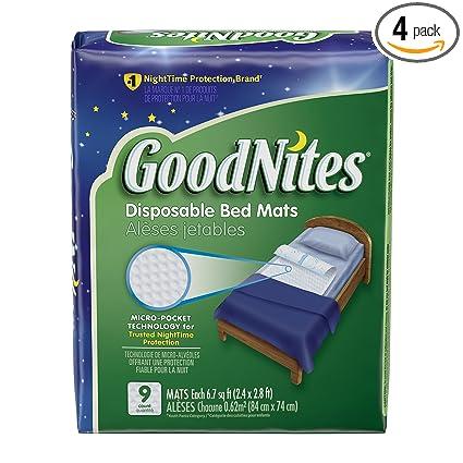 Amazon.com: GoodNites Colchonetas para cama desechables ...