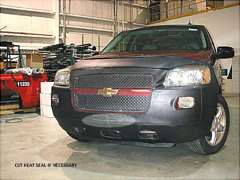 2005 thru 2008 Car Mask Bra Fits Lebra 2 piece Front End Cover Black CHEVROLET,UPLANDER