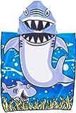 Genovega Toddler Hooded Beach Bath Towel – Baby Shark Soft Beach Towel Swim Pool Coverup Poncho Cape for Boys Kids Children Gift, 1-7 Years Old Bath Robe