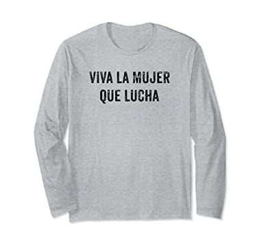 Unisex Latina Shirts for Women | Viva La Mujer Camisa Small Heather Grey