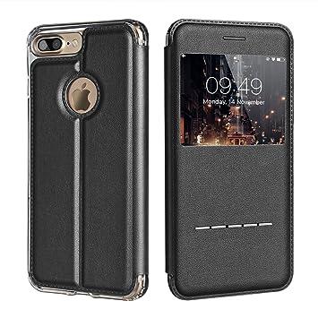 coque iphone 7 plus rabat noir