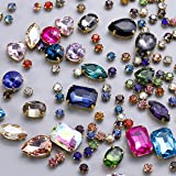 130 pcs (30 Regular +100 Small) Mixed Sew on Rhinestone Claw Crystal Rhinestones for DIY Craft, Jewelry Making,Clothing Acces