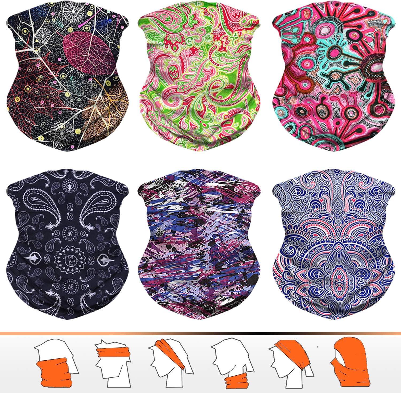 JOEYOUNG Headwear, Bandana, Neck Gaiter, Head Wrap, Headband for Men and Women, Multifunctional Head Scarf, Face Mask, Balaclava, Magic Scarf, Sweatband for Fishing, Yoga, Motorcycling