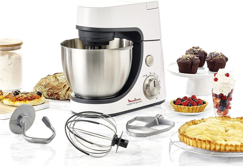 Moulinex Masterchef Gourmet 900W 4.6L Blanco - Robot de cocina (4,6 L, Blanco, Botones, Giratorio, Acero inoxidable, 900 W): Amazon.es: Hogar