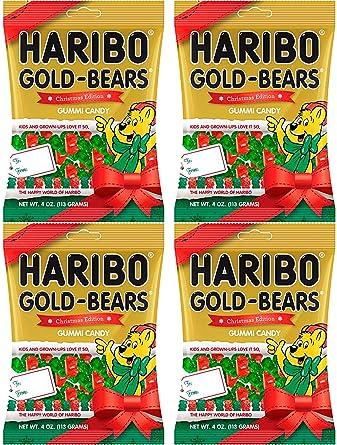 Haribo Oro Bears Bolsa para Edition Gummi Candy – 4 oz de ...