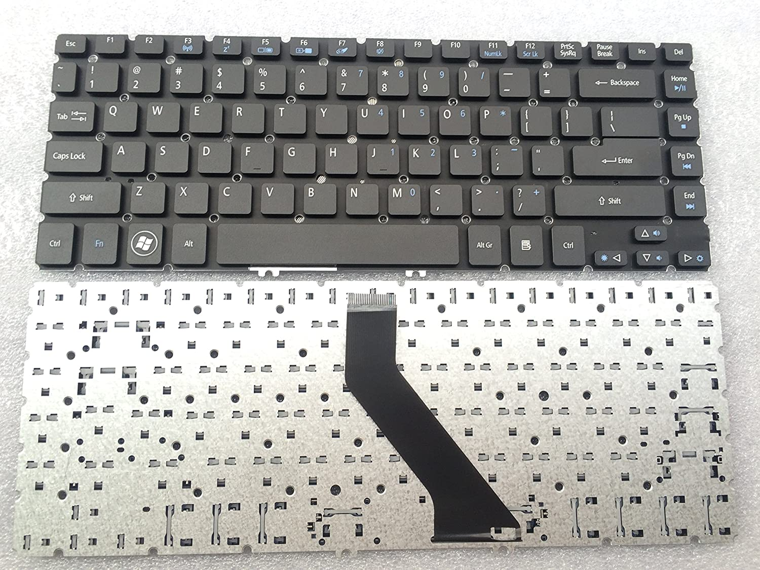 keyboard go go go new original keyboard for Acer Aspire V5-471G V5-431P V5-431 V5-471 V5-471P Series US layout MP-11F73U4-4424 no black frame V5-473