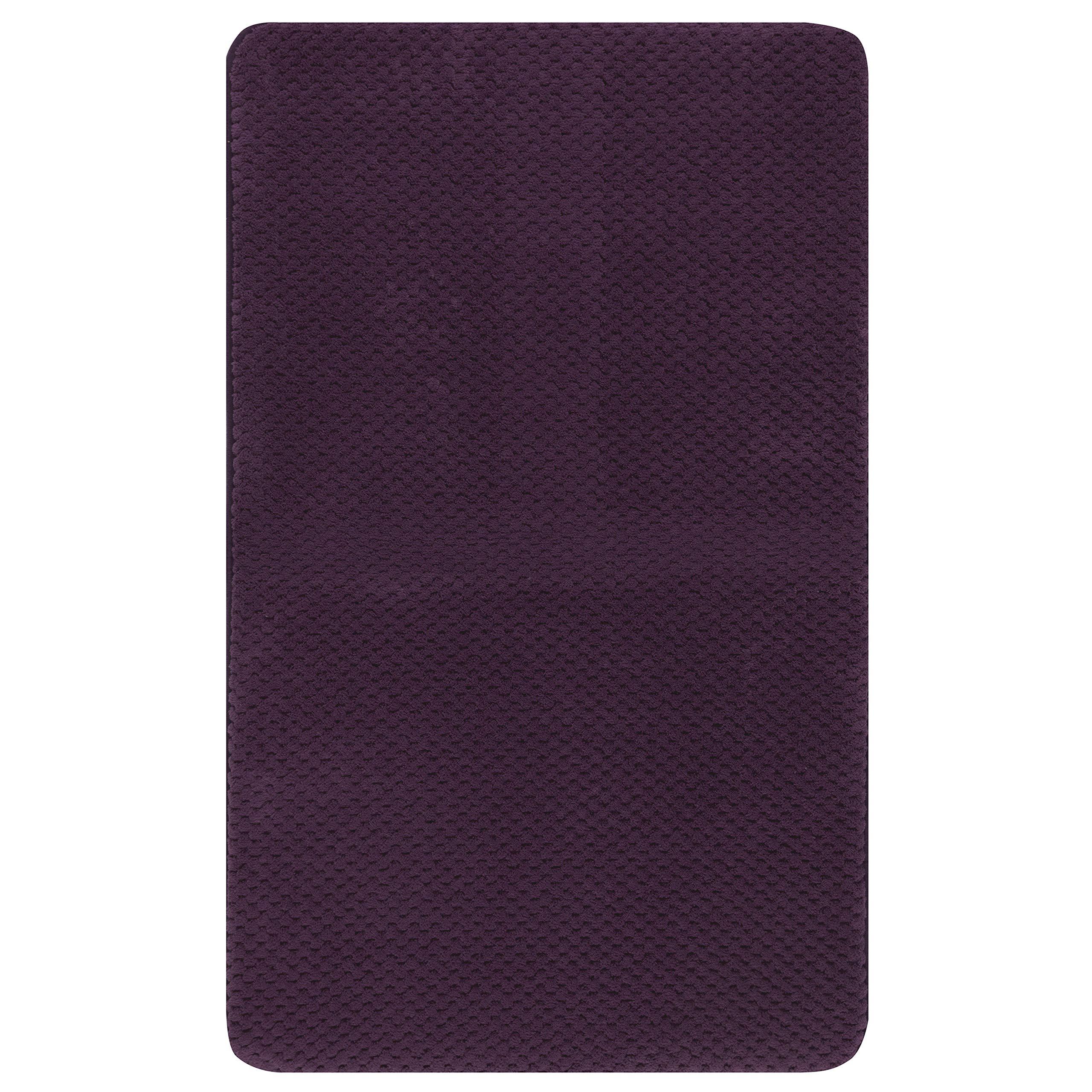 Mohawk Wilshire Bath Rug, 1'5x2', Purple