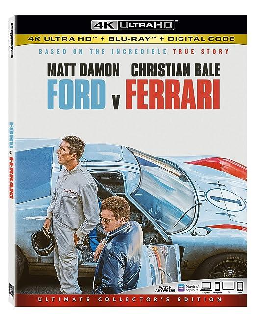 Amazon Com Ford V Ferrari 4k Ultra Hd Blu Ray Matt Damon Christian Bale Jon Bernthal James Mangold Movies Tv