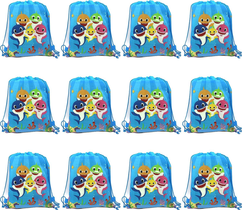 Baby Shark Drawstring Bag For Gift Bag, Party Favor Bag, Baby Shark Party Bags Baby Shark Party Supplies Cute Shark Birthday Party Supplies