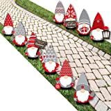 Big Dot of Happiness Christmas Gnomes - Lawn Decorations - Outdoor Holiday Party Yard Decorations - 10 Piece