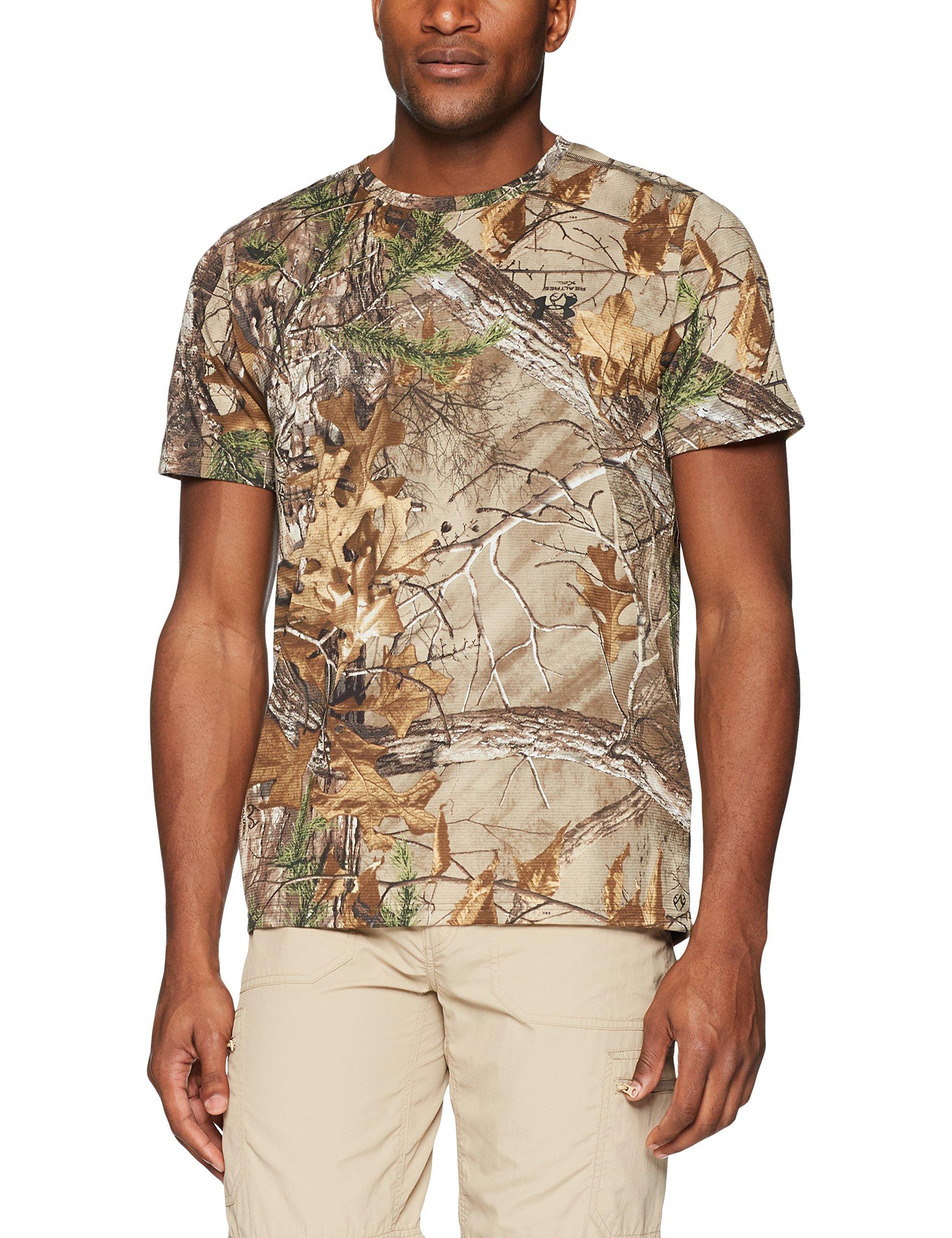 Under Armour Men's Threadborne Camo Shorts Sleeve T-Shirt,Realtree Ap-Xtra /Black, XX-Large by Under Armour