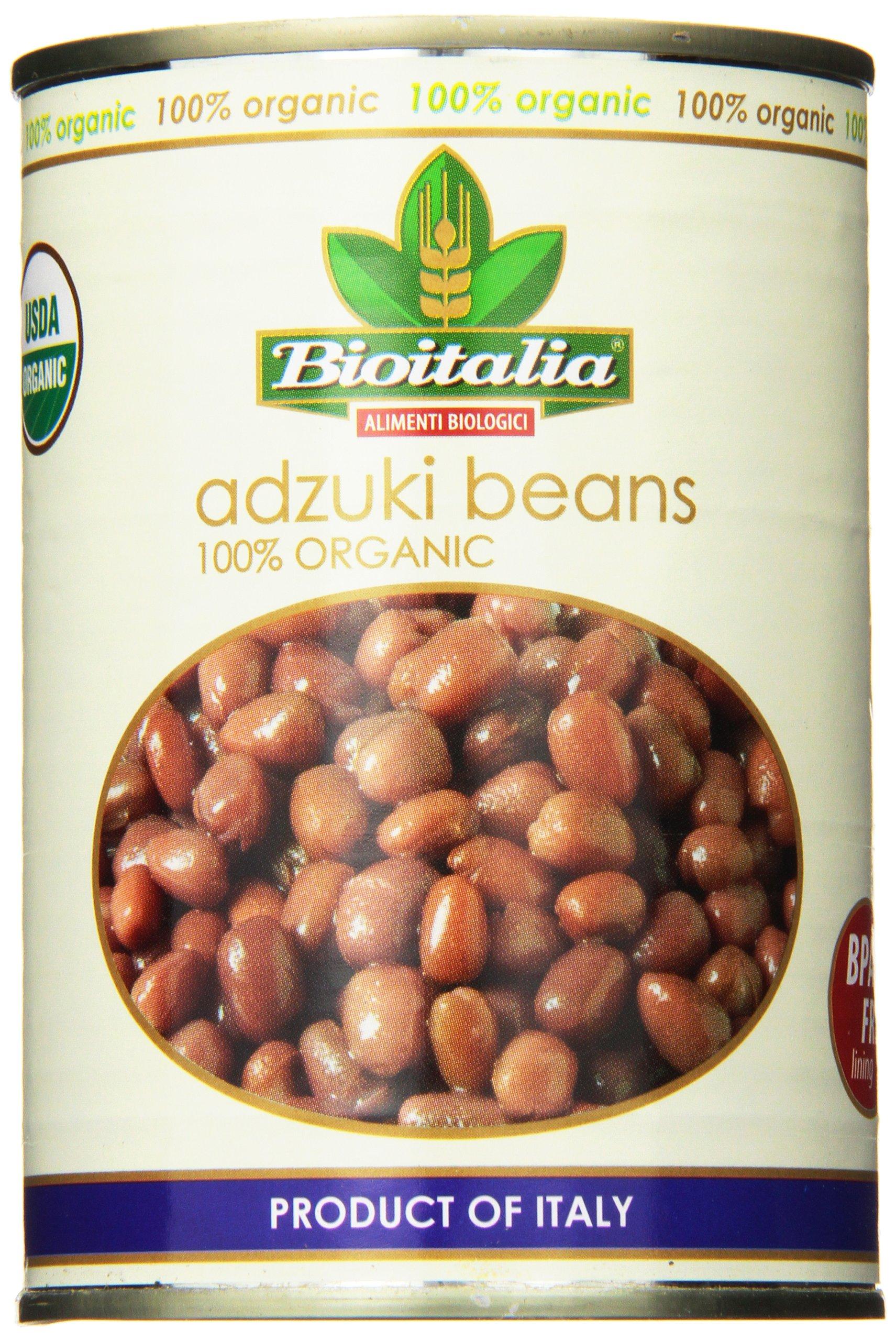 Bioitalia Azuki Beans, 14 Ounce (Pack of 12)