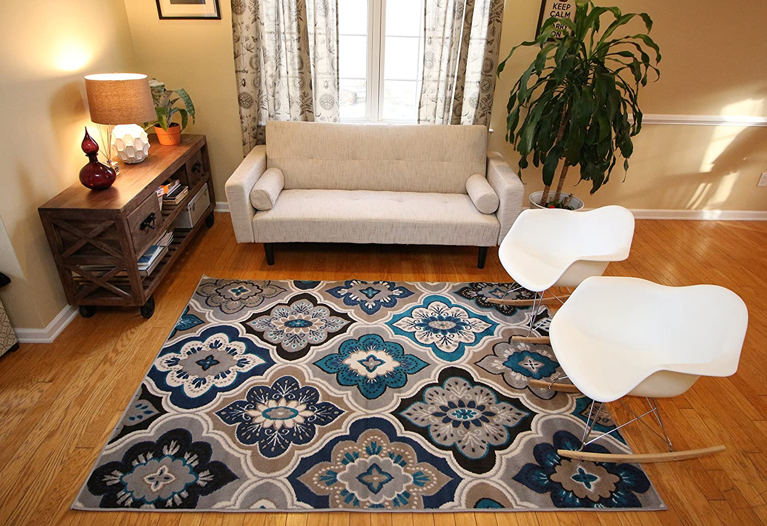 Amazon generations panal and diamonds area rug 52 by 73 amazon generations panal and diamonds area rug 52 by 73 inch beige kitchen dining baanklon Gallery