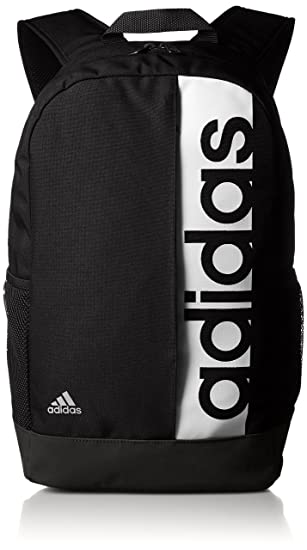 1db40bc62a adidas Linear Performance Backpack - Black/Black/White, 16 x 28 x 46