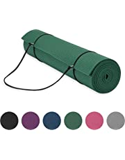 "Gaiam Essentials Premium Yoga Mat with Yoga Mat Carrier Sling (72""L x 24""W x  1/4 Inch Thick)"