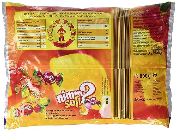 Nimm2 Caramelos Blando de Naranja y Limón Con Vitamina C, Con Interior de Zumo de Fruta - 4 Paquetes de 800 gr - Total: 3200 gr: Amazon.es: Alimentación y ...