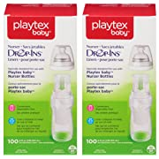 Playtex Baby Nurser Drop-Ins Baby Bottle Disposable Liners, Closer to Breastfeeding, 200 Count