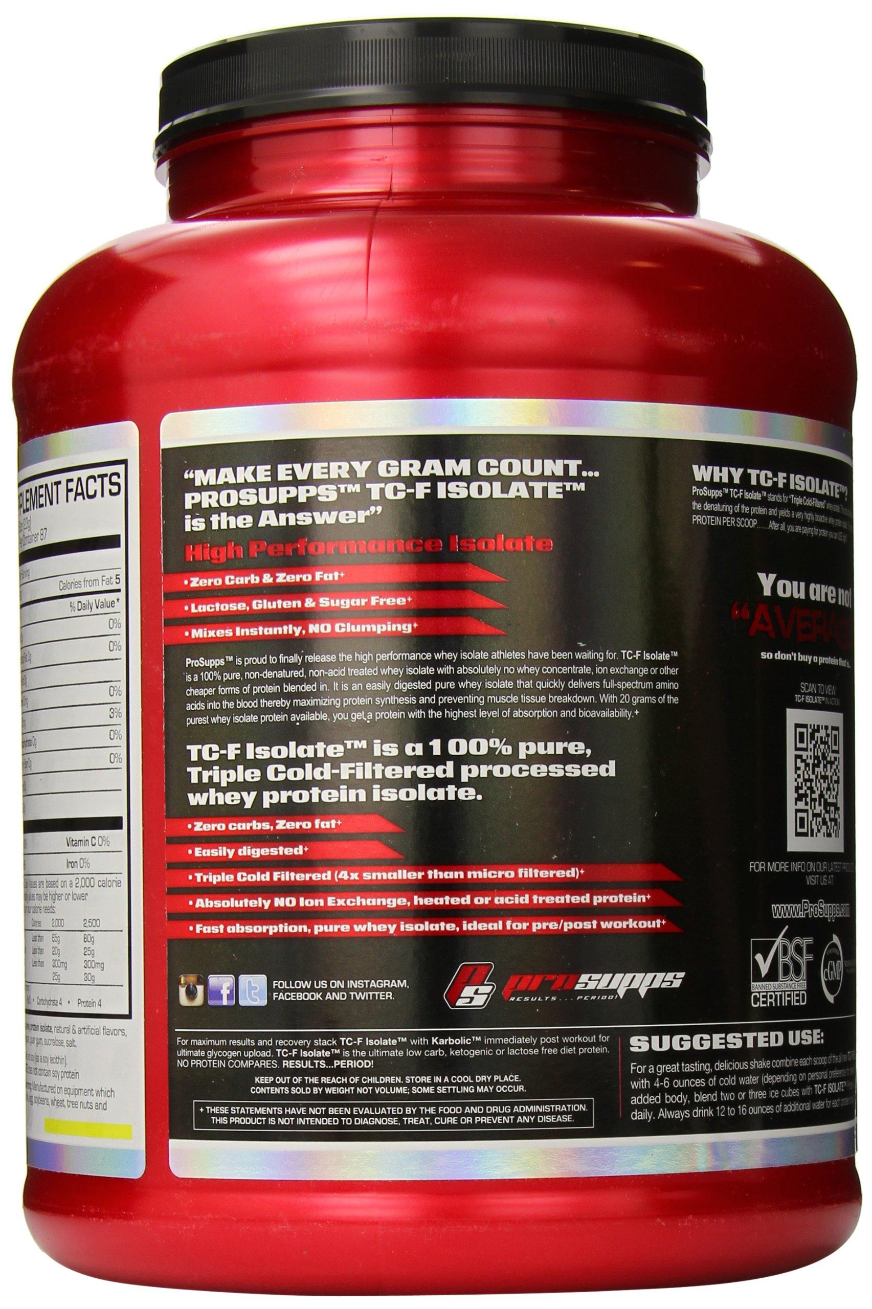 PRO SUPPS PSIsolate Supplement, Vanilla, 4 Pound