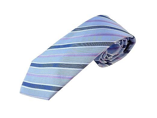Corbata azul a rayas azul oscuro, fabricada a mano, en seda ...