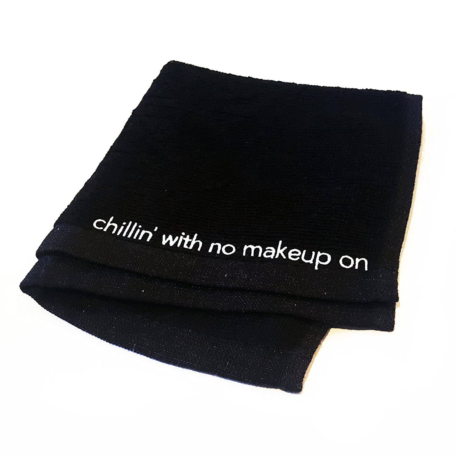 "Chillin' with No Makeup on"" Drake-Inspired Make-up Removal Black Cotton Facecloth The Best I Ever Had"