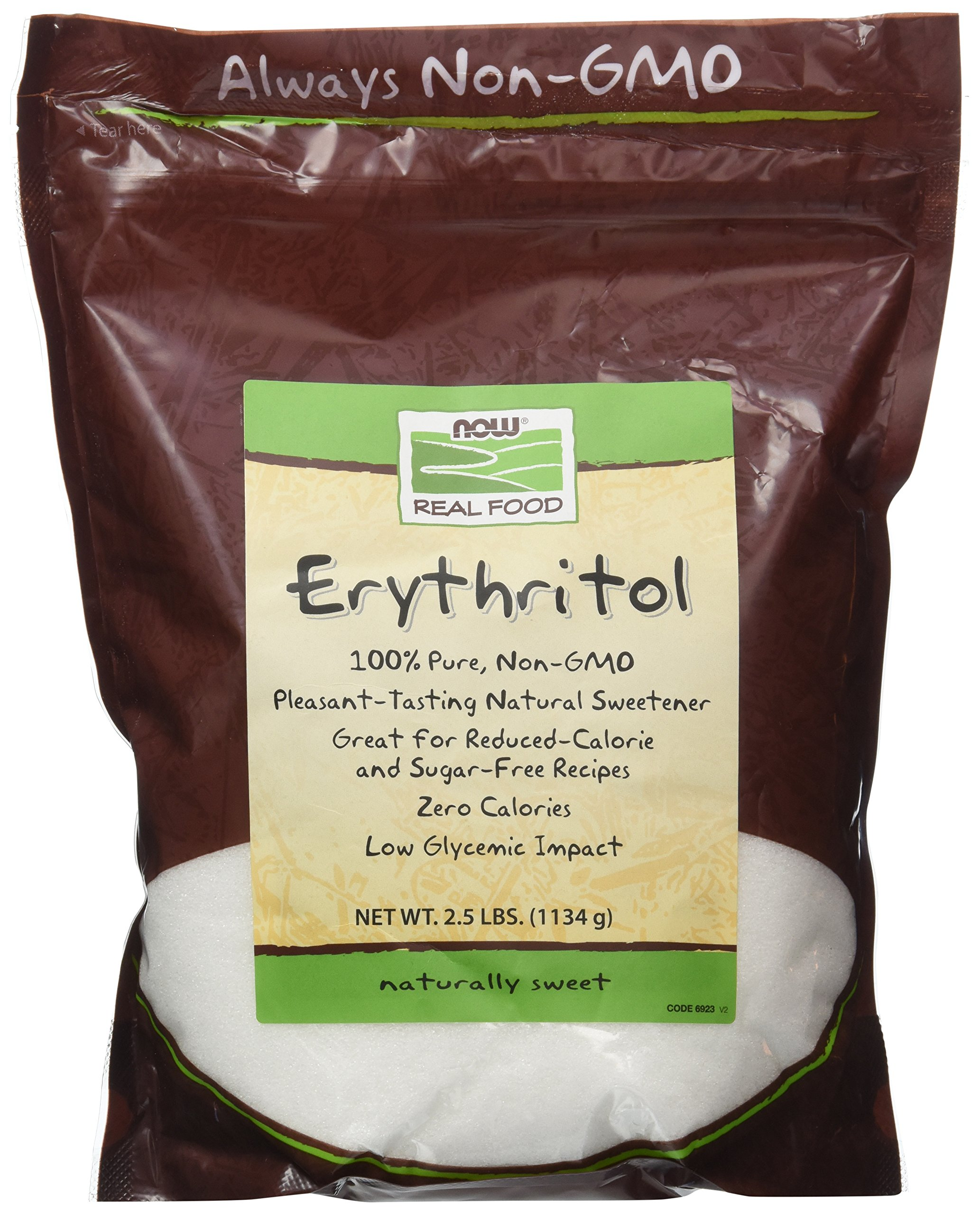 Now Foods Erythritol Natural Sweetener 2.5 LB (Pack of 2) by NOW Foods