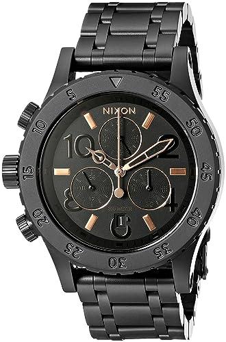 Nixon 38-20 Chrono Reloj de mujer cuarzo 38mm correa de acero A404-957: Nixon: Amazon.es: Relojes