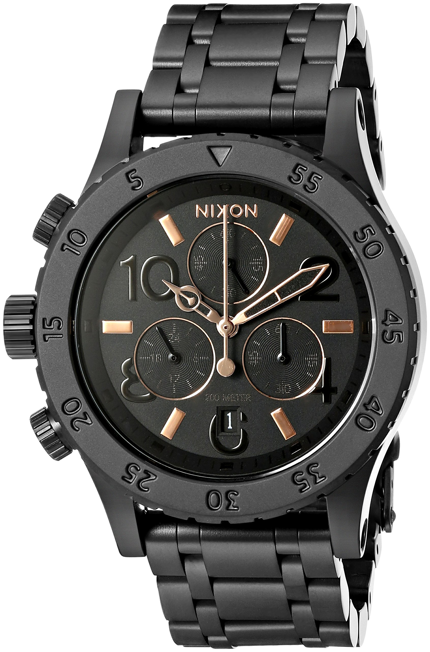 Nixon Women's A404957 38-20 Chrono Analog Display Japanese Quartz Black Watch