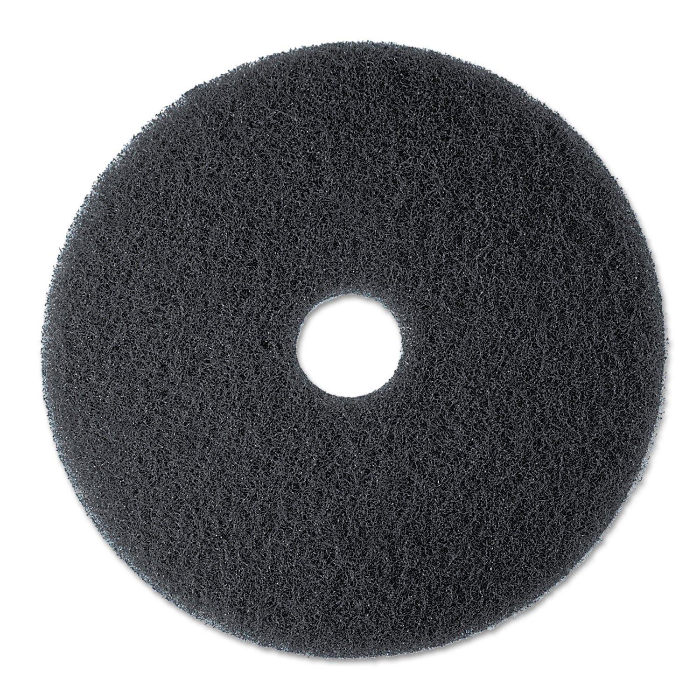 3M 08375 Low-Speed Stripper Floor Pad 7200, 13 Diameter, Black, 5/Carton 13 Diameter 3M/COMMERCIAL TAPE DIV.