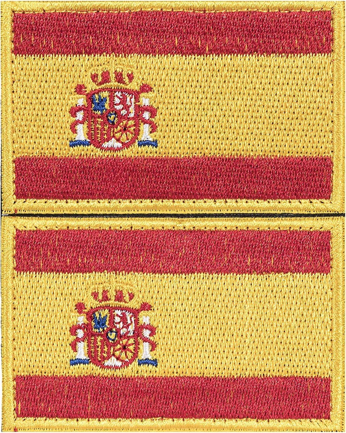 2 x Parche España Parches Velcro España Español Bandera Táctico bandera con velcro podría ser pegado a la ropa, chaleco, gorra, mochila original: Amazon.es: Hogar