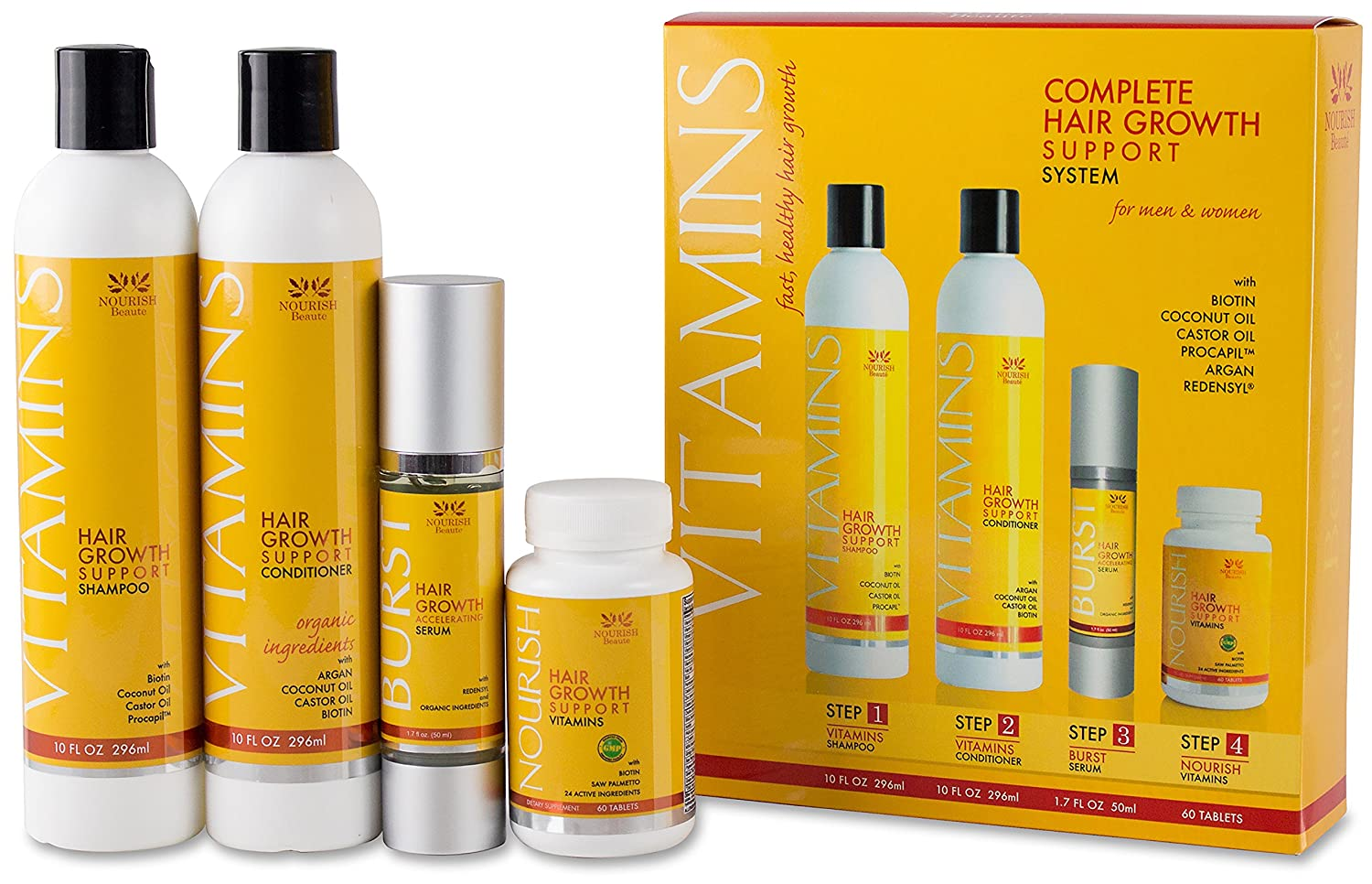 Complete Hair Growth Support System Kit by Nourish Beaute