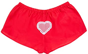 100% de haute qualité meilleure valeur acheter authentique Caleçon boxer rouge pour fille Heidi coton avec un motif ...