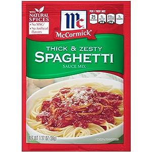 McCormick Thick And Zesty Spaghetti Sauce Mix, 1.37 oz