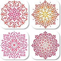 UrbanXElites Mandala Stencils for Painting - 12x12 Inch Wall Stencils for Painting Large Pattern | Tile Stencils, Floor…