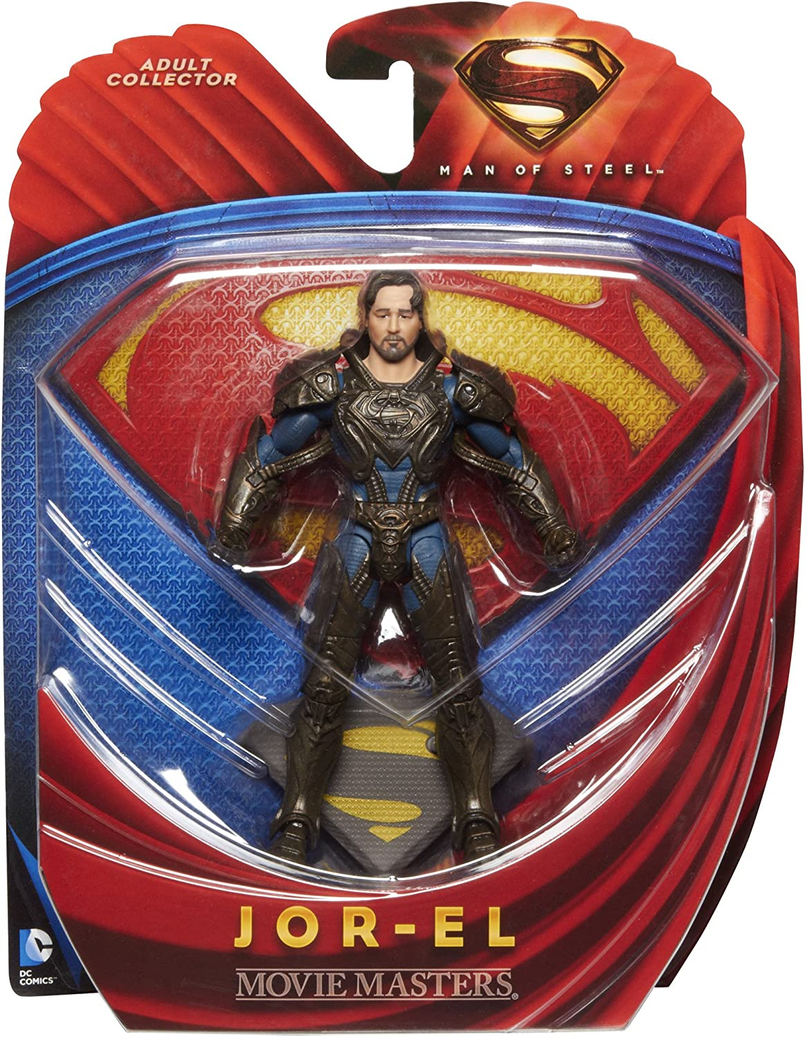 "2013 MATTEL MOVIE MASTERS--SUPERMAN MAN OF STEEL MOVIE--6/"" JOR EL FIGURE NEW"