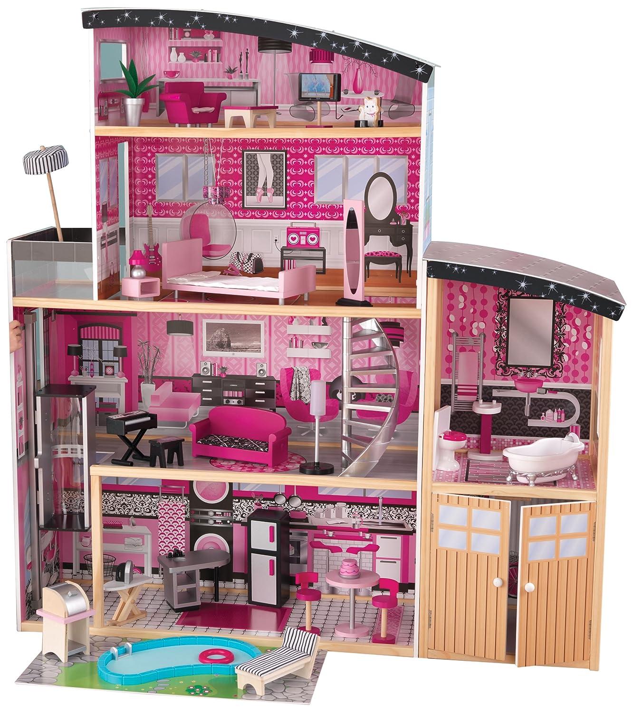 Kidkraft Puppenhaus - Kidkraft Glitzer Puppen-Villa