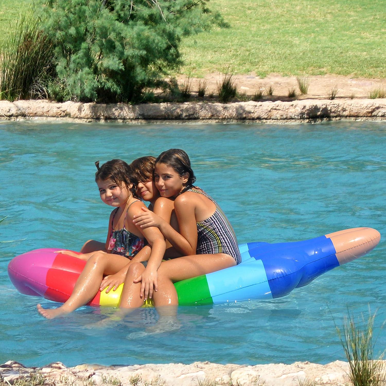 Tomi Pool Float - Colchón Flotante Hinchable - Perfecto Para Piscinas, Ríos y Como Tumbona de Playa - Forma de Helado - Juguete de Agua - Colchón Enorme: ...
