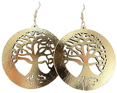 Tree Of Life Earrings Wood Earrings Tree Earrings Wooden