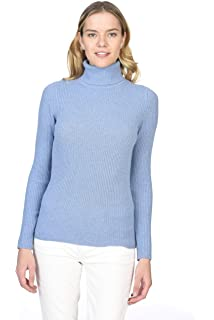 c1cabdc4ef4d5 State Cashmere Women's 100% Pure Cashmere Long Sleeve Pullover Ribbed Turtleneck  Sweater