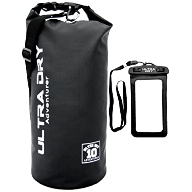 Ultra Dry Premium Waterproof Bag, Sack with phone dry bag and Long Adjustable Shoulder Strap Included, Perfect for Kayaking/Boating/Canoeing/Fishing/Rafting/Swimming/Camping