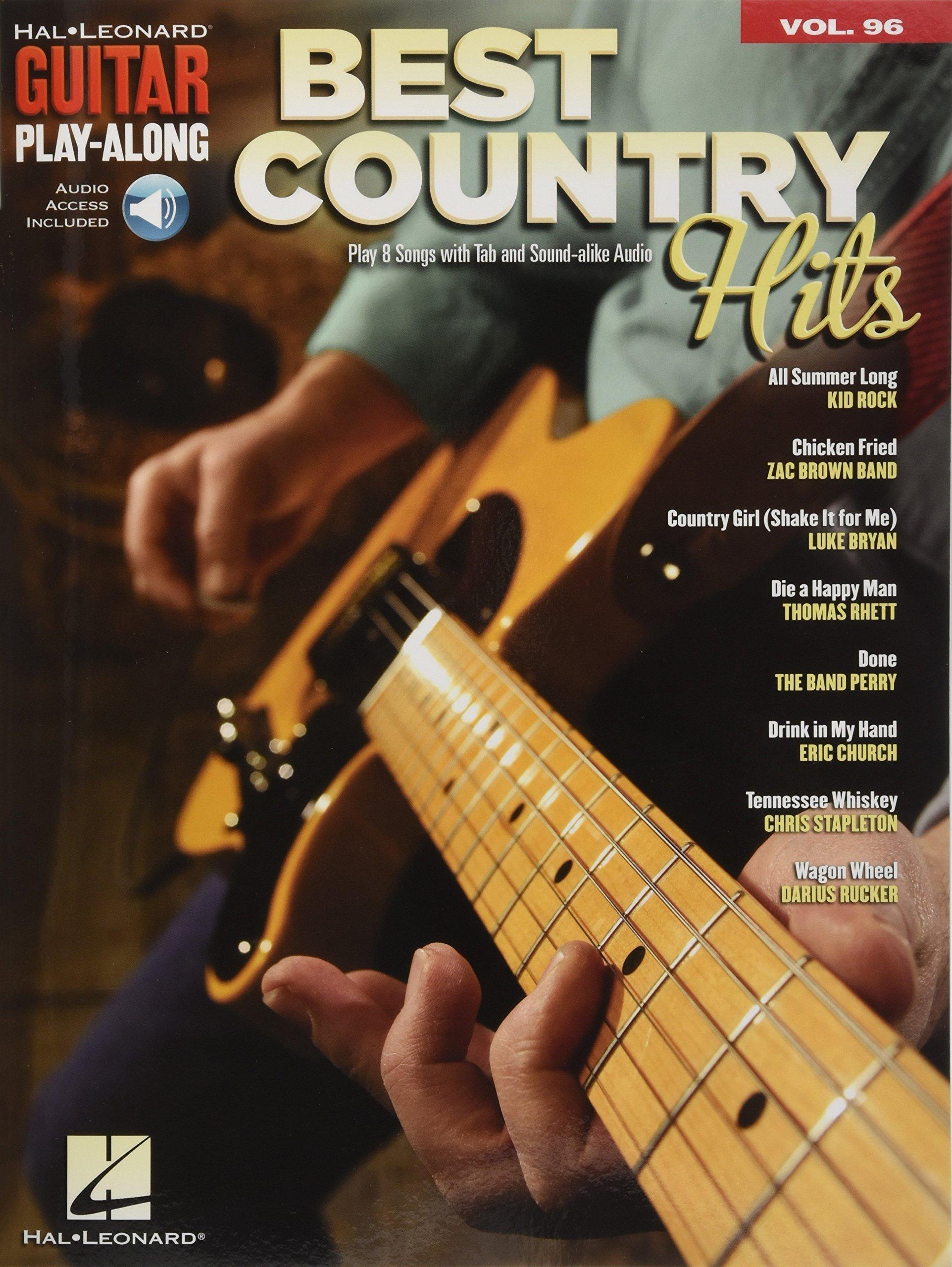 Best Country Hits: Guitar Play-Along Volume 96 Bk/Online Audio (Hal Leonard Guitar Play-Along)