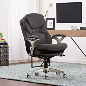 Serta Works Ergonomic Executive Office Chair with Back in Motion Technology, Dark Gray Fabric