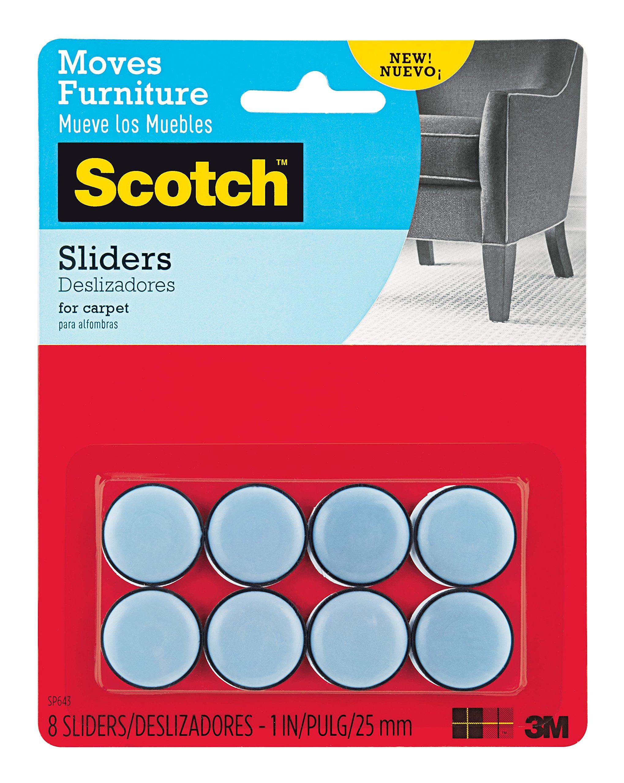 Scotch Self-Stick Sliders, 1'', 8-Sliders (SP643)