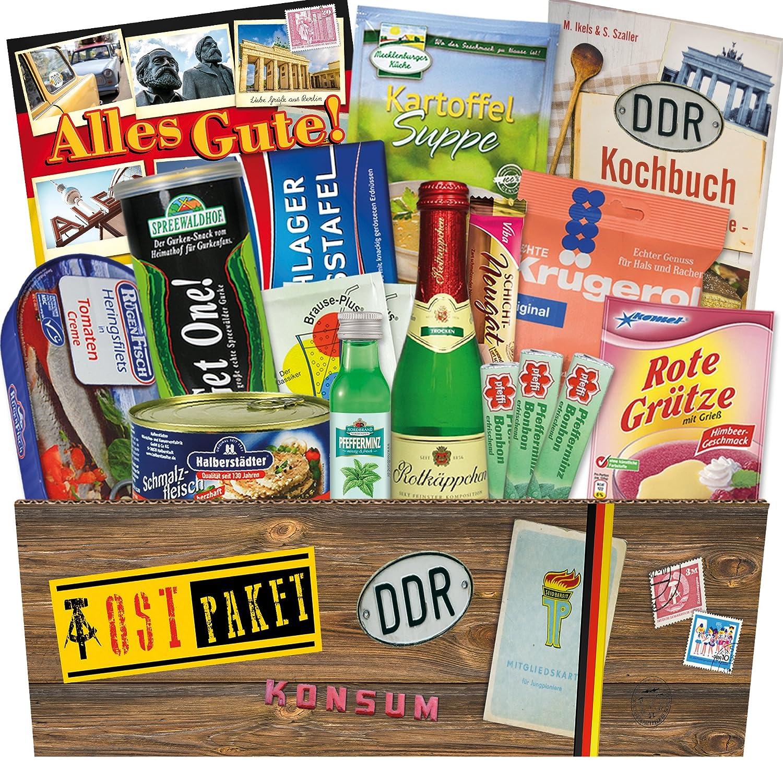 """Ostpaket """"DDR SPEZIALITÄTEN BOX"""" Geschenkverpackung mit Ostmotiven ..."""