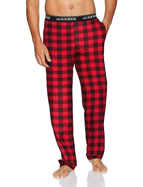 Jersey Pyjama Pants, Pantalones de Pijama para Hombre, Azul (Buffalo Plaid), XX-Large Hatley