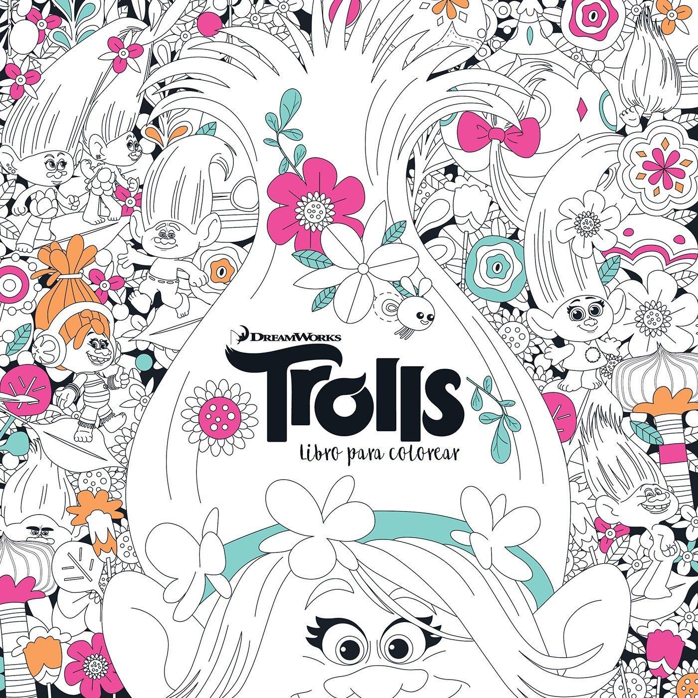 Trolls Libro Para Colorear Trolls Its Color Time Dreamworks