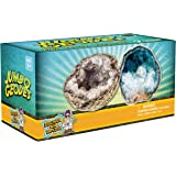 Break Open 2 Jumbo Geodes! Discover Crystal Treasure Hidden Inside These Rocks - Great STEM Science Gift for Mineralogy & Geo